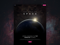 Space landing page