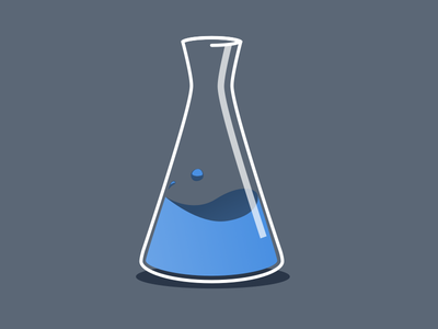 Flask flask liquid illustration flat icon science sketch