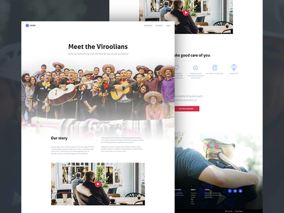 About page concept website web page about concept layout ui virool flat minimal webpage wip