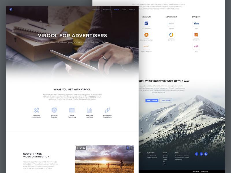 New Website gotham minimalistic simple virool web website homepage
