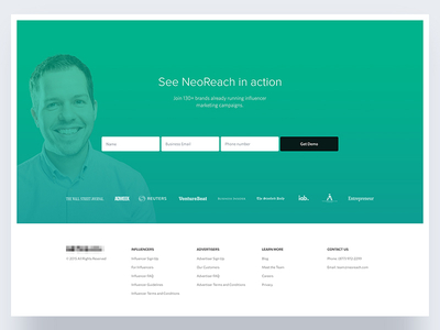 Sign up page ux minimalist clean footer input form sign up ui page web website