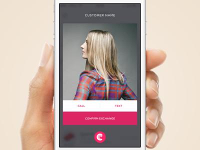 Exchange Modal blur iphone screen popup modal ios app