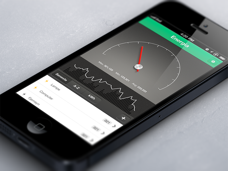 Energy Consumption App app iphone iphone app green energy ios