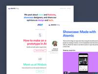 Atomic blog