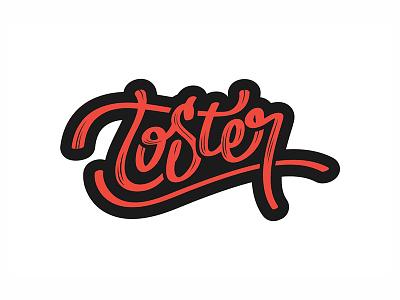 Toster bar handwritten logo handwritten type handwritten lettering logo logo design