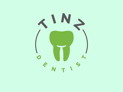 Tinz Dentist symbol logo logo design dentist logo