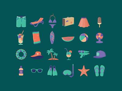 Summer icon set icon design icon icon set