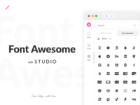 Font Awesome With Studio