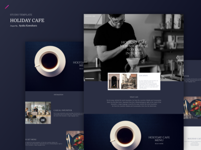 HOLIDAY CAFE  | STUDIO Template