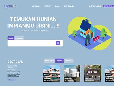 Real Estate Website website ui landing page design uidesign beginner