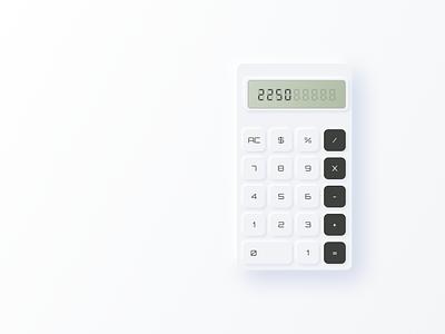 Neomorphism Calculator design ui design mobile app uidesign beginner