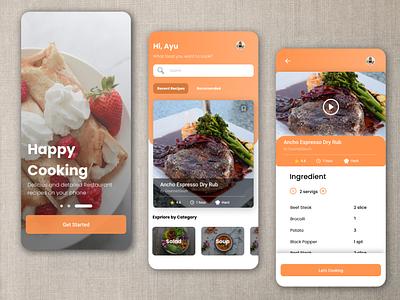 Cooking Receipe Mobile App receipts cooking ui mobile app uidesign beginner