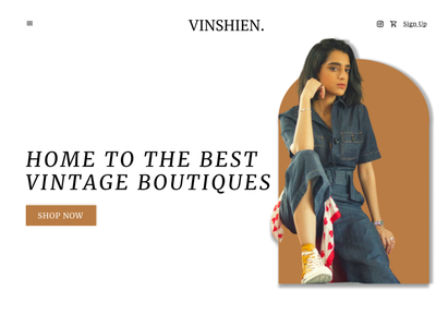 E-Commerce Fashion Vintage website ecommerce ecommerce e-commerce website webdesign uidesign