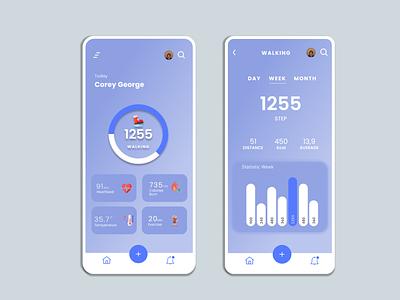 Health Tracking UI Design health tracking health tracking app healthcare heal ui design dailyui design mobile app uidesign