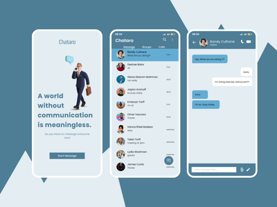 Message App uiux message message app dailyui mobile app uidesign