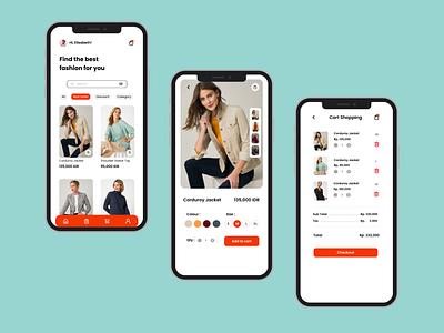 Clothing Shop App mobile app shop ecommerce design dailyui uidesign