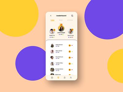 Leaderboard leaderboard mobile app dailyui uidesign
