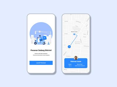 Delivery Tracking App delivery app tracking app tracking map mobile app dailyui uidesign