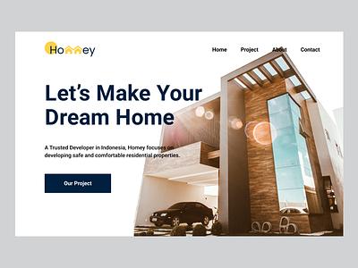 Developer Property Landingpage rent house home house property web design website dailyui uidesign