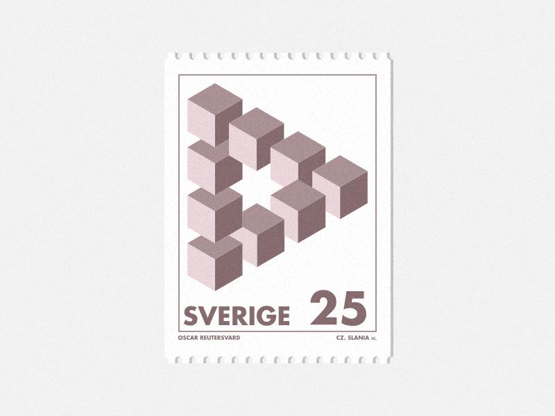Postage Stamp - Sverige 25 by Orhan Öznacar on Dribbble