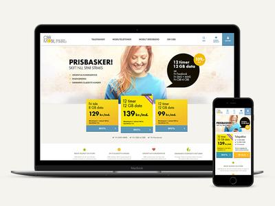 CBB Mobil ecommerce responsive webdesign design