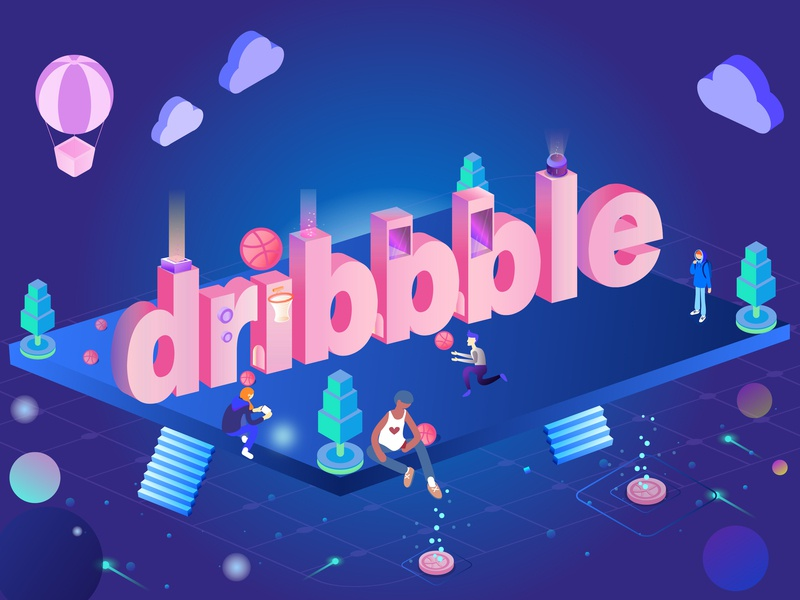 Dribbble1 ui illustration