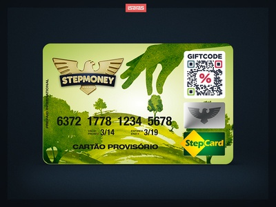 StepmoneyCard money green nature blister card design product