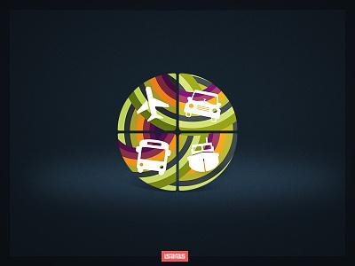 Natal Urbano colorful graphic logotype branding design