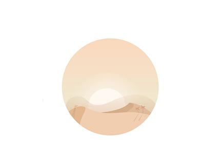 Desert. palm trees sand art 2k21 2021 vector minimal design dribdrab desert