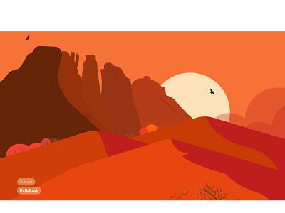 Outback red yellow storm sun 2k21 illustration minimal vector adobe illustrator adobe 2021 dribdrab behance outback desert design