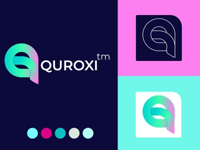 Q letter logo mark - Quroxi branding minimalist logo modern logos modern logo design logo design