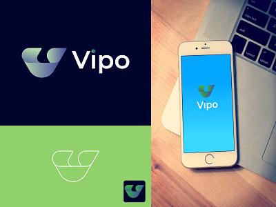 Modern Letter logo V - App icon modern logos app icon logo branding modern minimalist logo modern logo design logo design