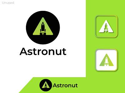 Modern letter logo A _ Astronut overlalpping logo minimal logo app icon modern modern logos minimalist logo modern logo design logo design branding