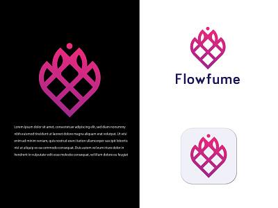Flowfume Modern Logo Design gradient logo professionall creative illustration design logo maker modern logo design minimalist logo logo design app icon 3d logo branding motion graphics graphic design animation ui