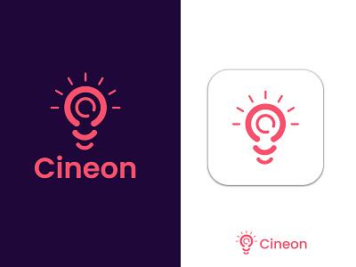 Cineon loo design 3d design illustration logo maker gradient logo professional creative logo motion graphics graphic design animation ui modern logo design minimalist logo logo design app icon branding