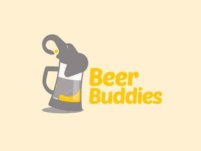 Beer Buddies beer bar drink app ios logo social connect branding