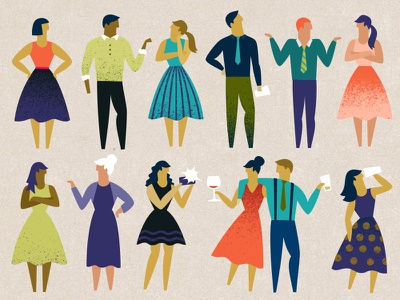 Party People people party illustration