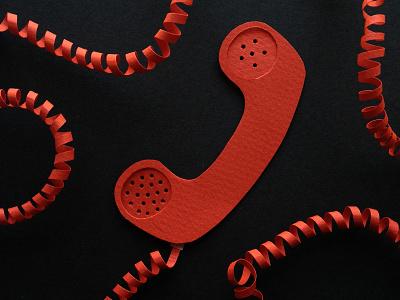 Hello telephone paper the100dayproject 100daysofpapercutz illustration