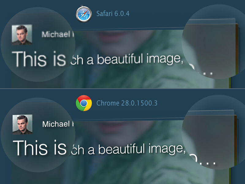 Safari chrome render