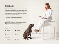 Vanity Site for Product Manager Extraordinaire Cait Porte