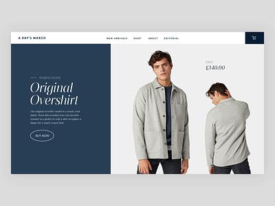 Product Swipes animation fashion serif web minimal interface ux website web design ui