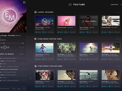 Eton Messy Website Concept ui ux web design website interface music web social layout app dash board clean