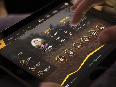 Stryd Profile Dashboard tablet image background sport profile dark dash board interface website web design ux ui