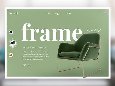Frame Lookbook web design website ux ui typography simple serif minimal header furniture clean