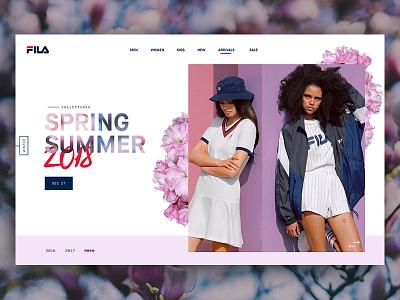 Fila - Blossom web design sans serif website ux ui typography simple plant minimal header clean
