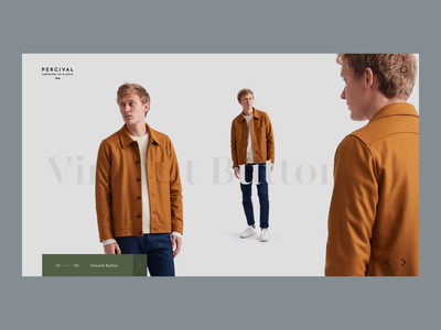 Parallax Product Page lookbook product brochure product autumn fashion serif simple minimal typography interface clean website ux web design ui