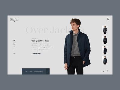 Product Page Warp design fashion web serif simple minimal typography interface clean ui ux website web design