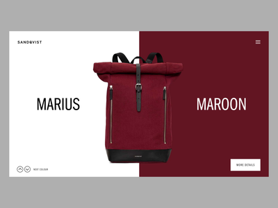 Product Page Colour Transitions design fashion typography web simple minimal interface clean website ux ui web design