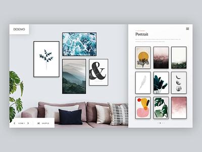 Print Selector app interior design dash board serif web simple minimal interface clean website ux web design ui