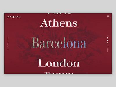City Explorer explore travel design serif web typography interface clean website ux web design ui